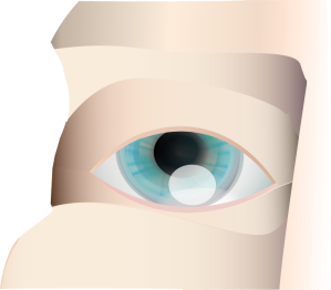 Close up of human eye and face stylized dgital illustration